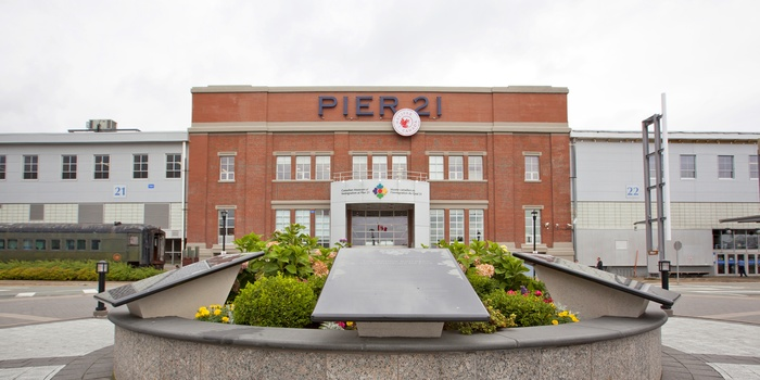 Pier 21 og Canadian Museum of Immigration i Halifax, Canada