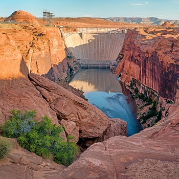 Glen Canyon dæmningen i Arizona, USA