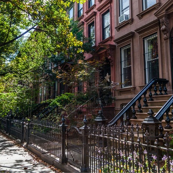 Brownstones i Brooklyn