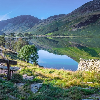 Buttermere sø i Lake District, Cumbria i England