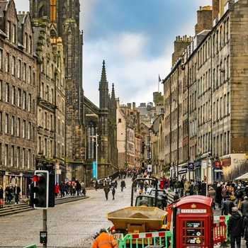 The Royal Mile i Edinburgh, Skotland