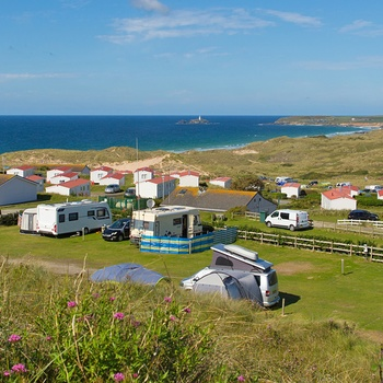 Campingplads i Cornwall med autocampere - England