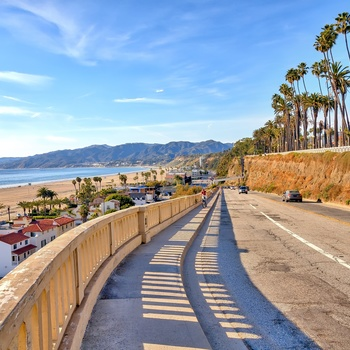 Costal Highway ved Santa Monica, Los Angeles i USA