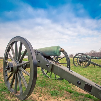 Kanoner i Vicksburg National Military Park - Mississippi i USA