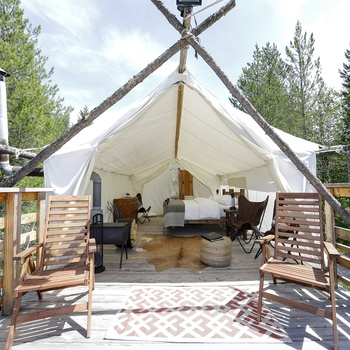 Glacier Under Canvas - Glamping i Montana, USA