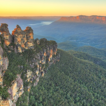 Blue Mountains National Park - udsigt til Tree Sisters, New South Wales i Australien