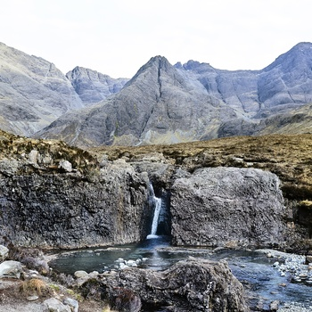 Fairy Pools på Isle of Skye, Skotland