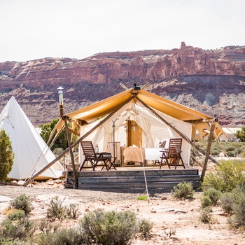 Glamping i Arches - Suite og tepee