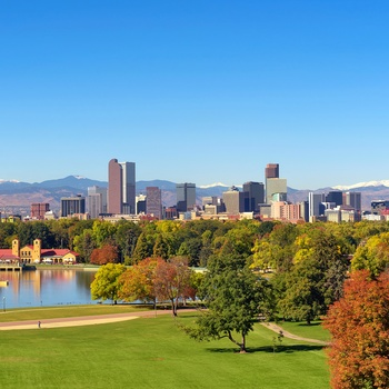 Denver skyline, Colorado i USA