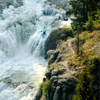 Lower Falls ved Scenic byway i Idaho