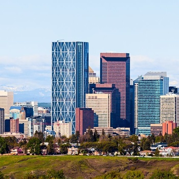 Calgary skyline og Tower, Canada