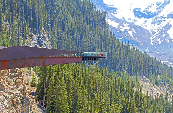 Columbia Icefield Skywalk i Jasper National Park, Alberta i Canada