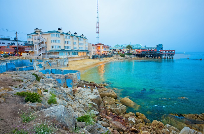 Cannery Row i kystbyen Monterey, Californien i USA