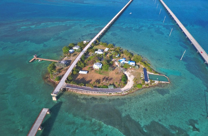 Pigeon Key, ø langs Overseas Highway til Key West, Florida