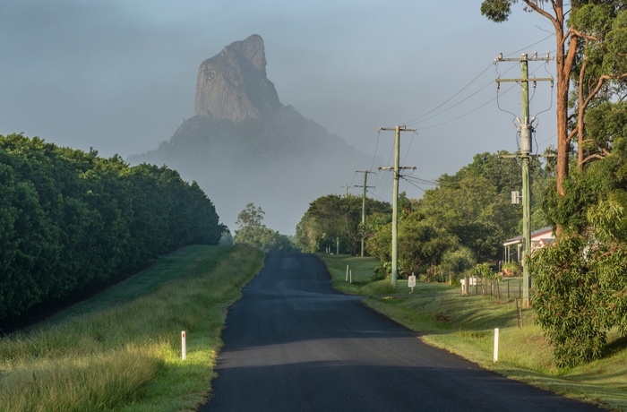 Glasshouse road i Queensland