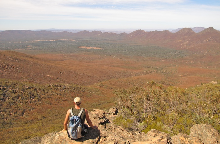 På vandring i Flinders Ranges Nationalpark, South Australia