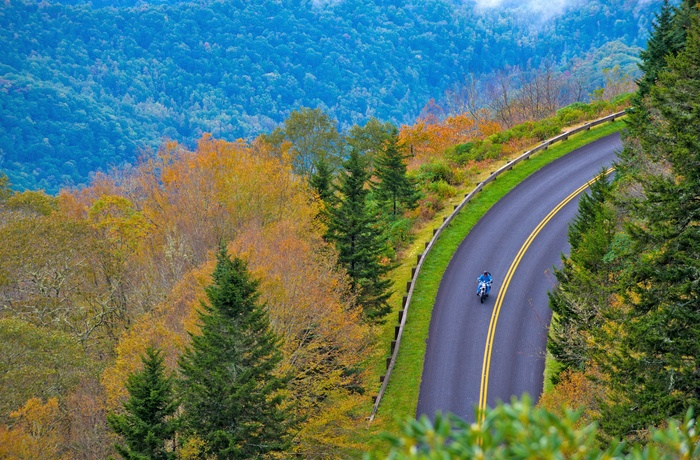 Tail of the Dragon, vej gennem Great Smoky Mountains - Tennessee i USA