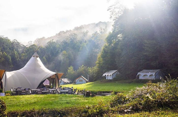 Glamping i Great Smoky Mountains, morgendis