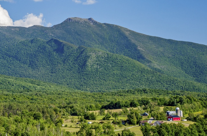 Mount Mansfield i Green Mountains, Vermont i USA