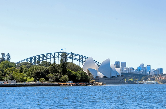 Sydney Harbour bridge og Operahuset