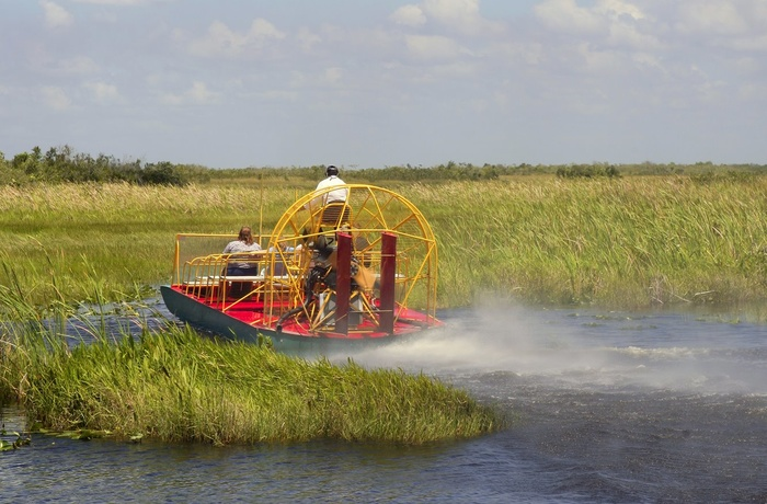 Med airboat i Everglades Nationalpark i Florida