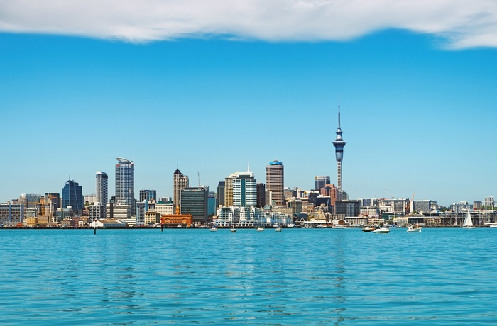 Aucklands skyline i New Zealand