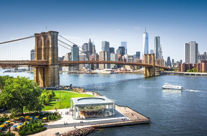 Brooklyn bridge i New York i USA