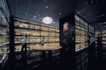 Verdens største whisky samling ©The Scotch Whisky Experience