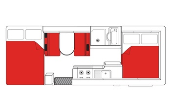 Mighty Big Six Floor Plan Day - motorhome i Australien