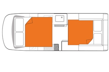 Britz Voyager Floor Plan Nat - Australien og New Zealand