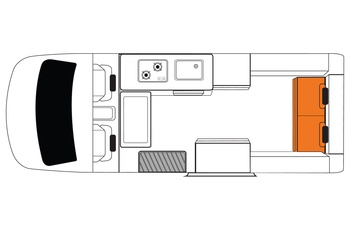 Britz Voyager Floor Plan Dag - Australien og New Zealand