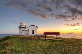 Tacking Point Lighthouse ved Port Macquarie i New South Wales, Australien