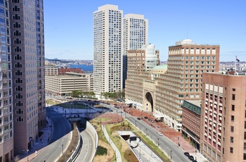 Rose Kennedy Greenway midt i Boston, USA