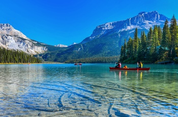 Emerald Lake i Yoho National Park, British Columbia i Canada