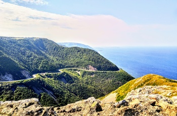 The Cabot Trail i Nova Scotia Canada