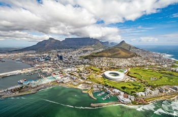 Udsigt til Cape Town og Table Mountain, Sydafrika