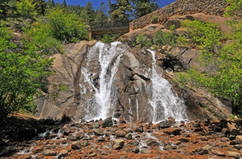 Helen Hunt Falls i North Cheyenne Canon Park i Colorado, USA