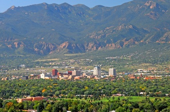 Byen Colorado Springs i USA