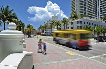 Fort Lauderdale downtown, Florida i USA