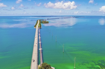 Overseas Highway mod Key West i Florida, USA
