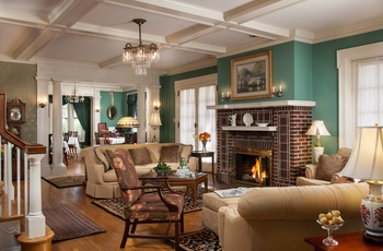 King´s Cottage Bed & Breakfast - dagligstue, Pennsylvania i USA