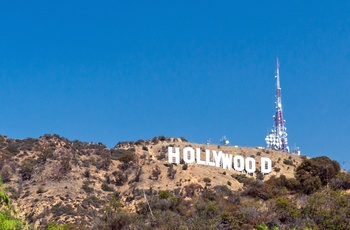 Hollywood skiltet i Los Angeles, USA