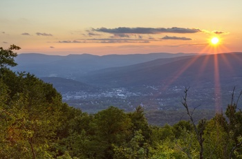Solnedgang over Berkshires - Massachusetts i USA