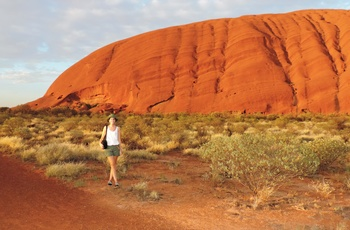 Michelle ved Ayers Rock - rejsespecialist i Aarhus