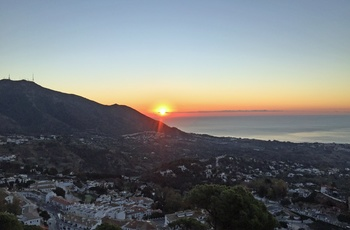 Solnedgang over Mijas, Andalusien