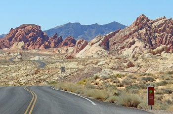 Nevada Scenic Byway gennem Valley of Fire State Park i Nevada - USA