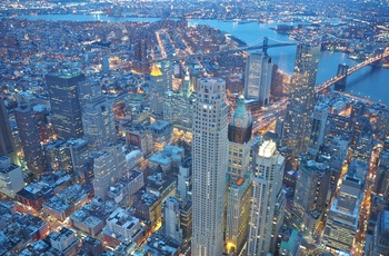 Udsigt fra One World Observatory til Manhattan i New York, USA