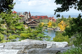 Lake Mohonk i Catskill mountains i New York State, USA