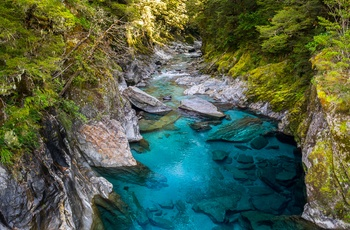 New Zealand Mount Aspiring National Park Blue Pools