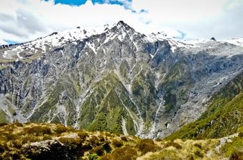 New Zealand Mount Aspiring National Park Brewster Glacier
